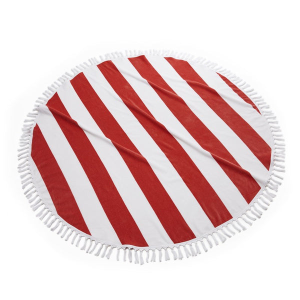 Cabana Round Beach Towel | Poppy
