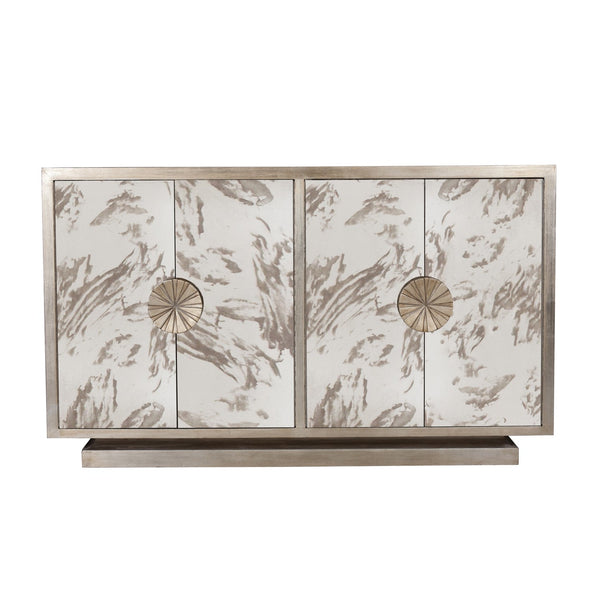 Calypso Mirror Cabinet in Silver Leaf - GDH | The decorators department Store