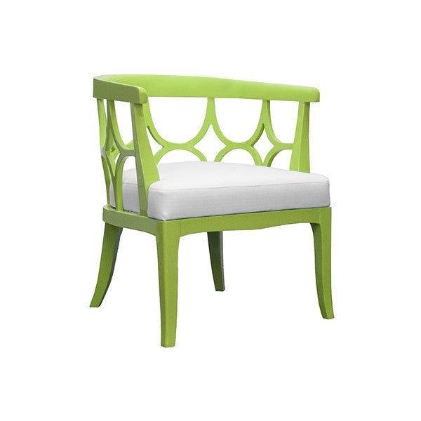 Campbell Barrel Lacquer Chair  | Lime Green