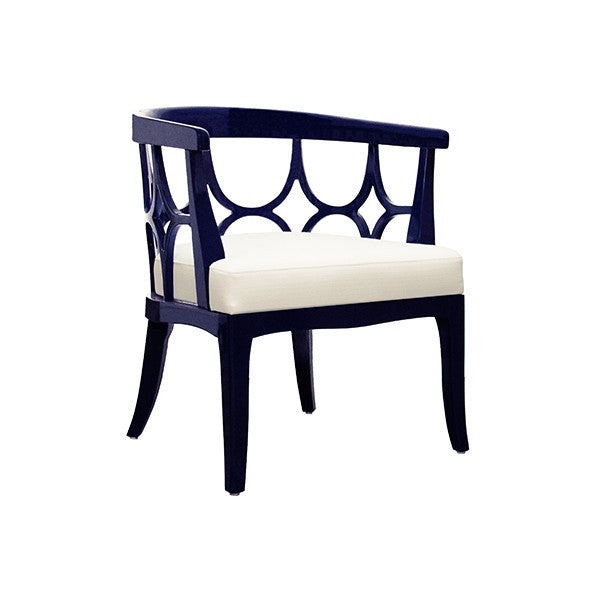 Campbell Barrel Back Lacquer Chair  | Navy - GDH | The decorators department Store