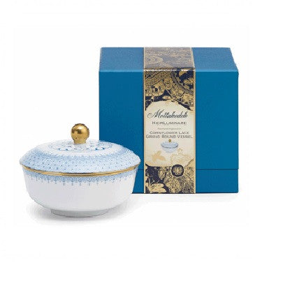 Cornflower Lace Heirluminare Fragrance Candle  Grand Round - GDH | The decorators department Store