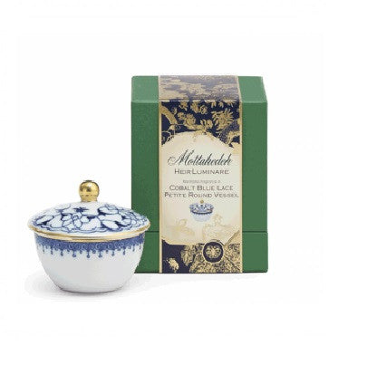 Cornflower Lace Heirluminare Fragrance Candle  Petite Round - GDH | The decorators department Store