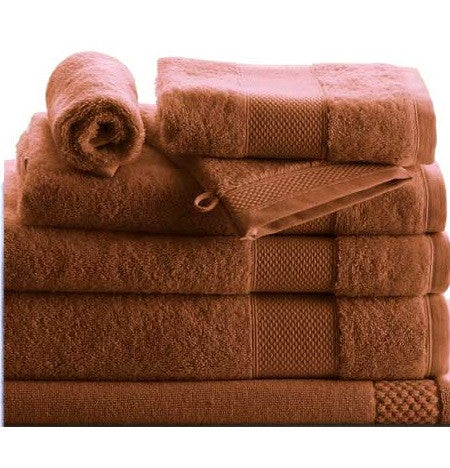 8 Piece Set of Petale Cannelle Towels by Anne de Solene - GDH | The decorators department Store