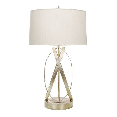 Cleo Table Lamp in Silver - GDH | The decorators department Store
