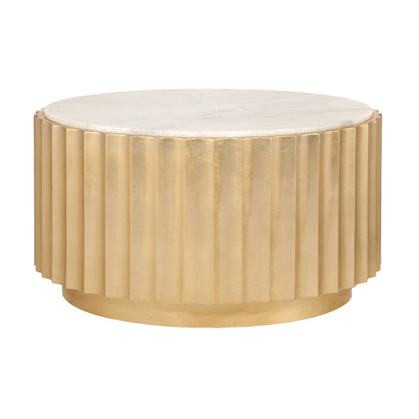 Clove-G Scalloped Round Coffee Table - GDH | The decorators department Store