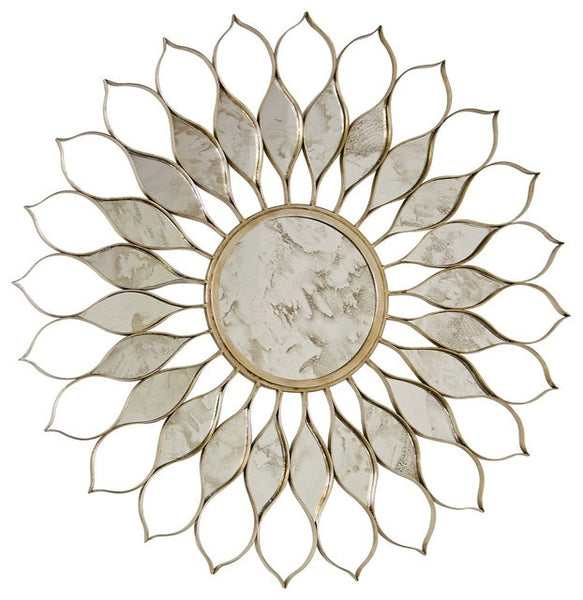 Daisy Silver Mirror - GDH | The decorators department Store