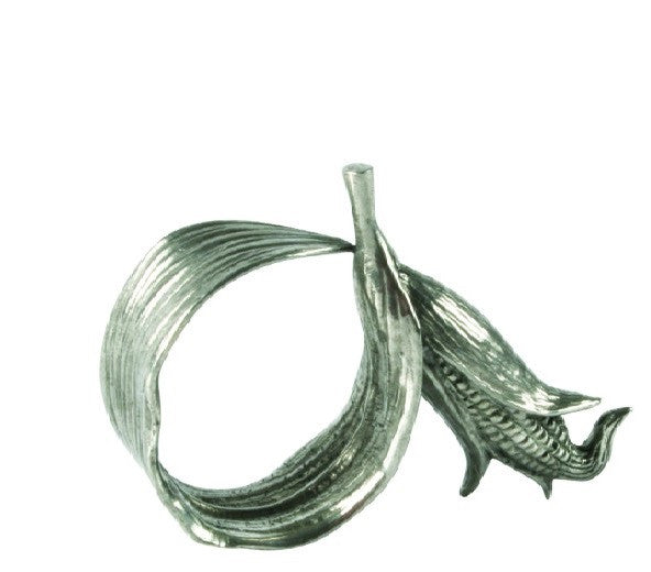 Pewter Corn Napkin Ring S/4