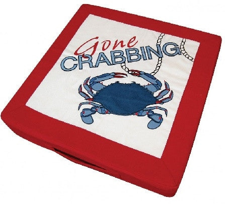 Red - Gone Crabbing Boat & Fishing Cushion - GDH | The decorators department Store