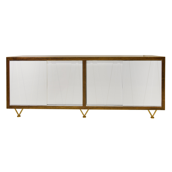 CRISSCROSS MEDIA CABINET - GDH | The decorators department Store