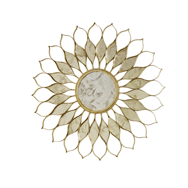 Daisy Gold Mirror - GDH | The decorators department Store