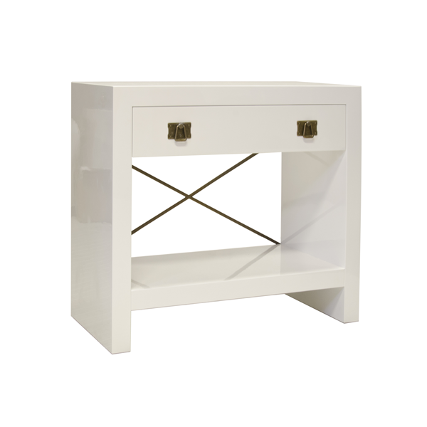 DALTON WHITE BED SIDE TABLE - GDH | The decorators department Store