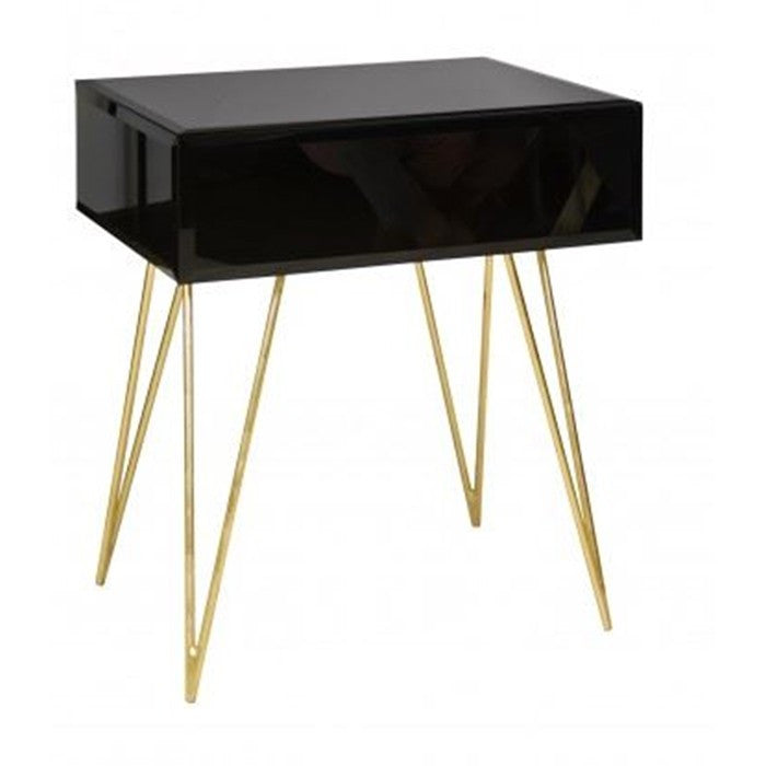 Debra One Drawer Side Table | BLACK - GDH | The decorators department Store