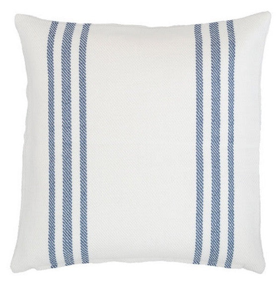 Lexington White/Denim Indoor/Outdoor Pillow
