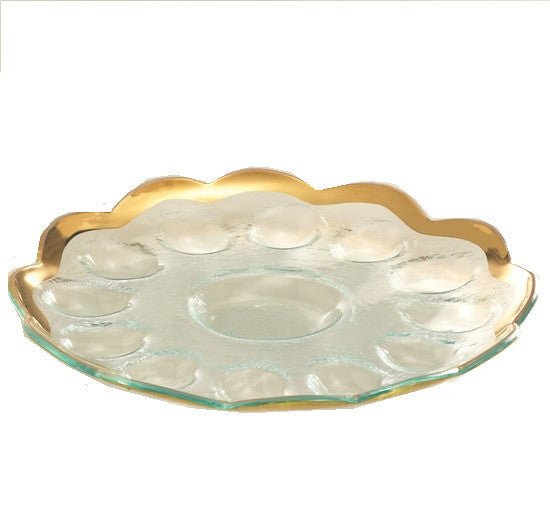 Annieglass Roman Antique  Deviled Egg Platter - GDH | The decorators department Store
