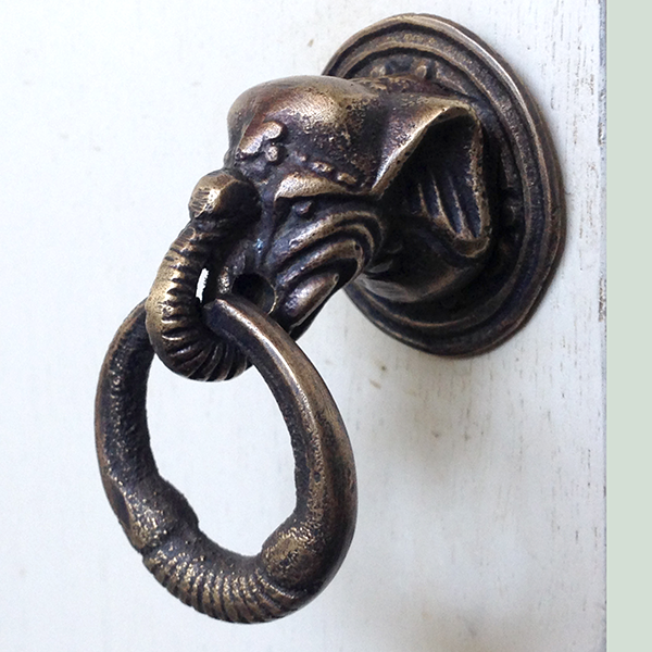 Bronze Elephant Door Pull - GDH | The decorators department Store