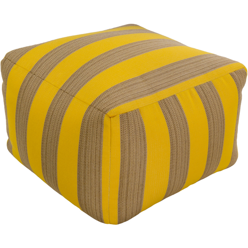 Finn Outdoor Pouf | Yellow - GDH | The decorators department Store