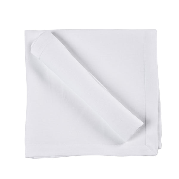 Frascati Linen Napkins by Libeco  | White