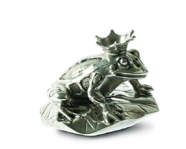 Pewter Frog Prince Salt and Pepper Shaker