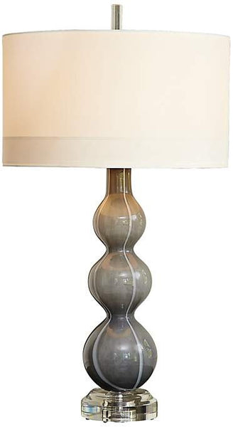 Cloud Dark Gray Art Glass Table Lamp