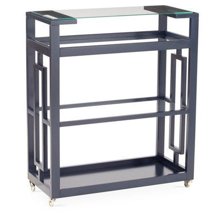 Grid Block Bar Cart-Ink - GDH | The decorators department Store