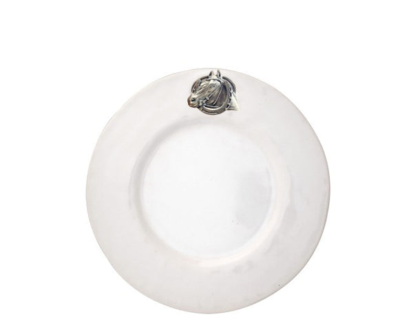 Equestrian Horseshoe Stoneware Salad Plate