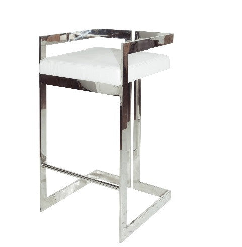 Hearst Nickel Bar Stool - GDH | The decorators department Store