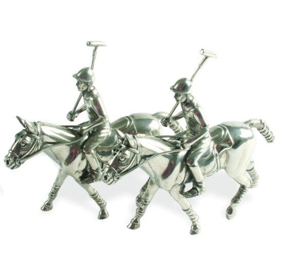 Polo Pewter Salt and Pepper Shakers