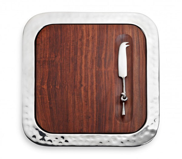 Sierra Serve Tray w/ Wood Insert & Cheese Knife