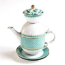 Mottahedeh Green Lace Tea for Two - GDH | The decorators department Store