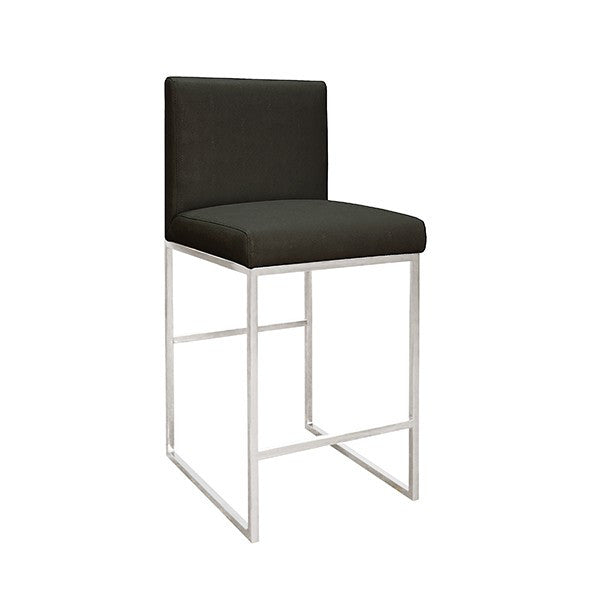 Kingston Nickel Counter Stool | Black