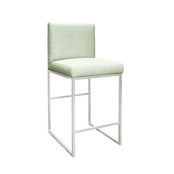 Kingston Nickel Counter Stool | Green