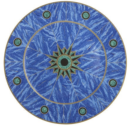 Mottahedeh Lapis Service Plate by Tony Duquette - GDH | The decorators department Store