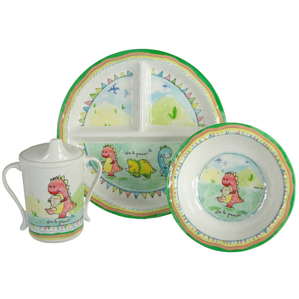 Be The Leader Round Sectioned Plate Set/4