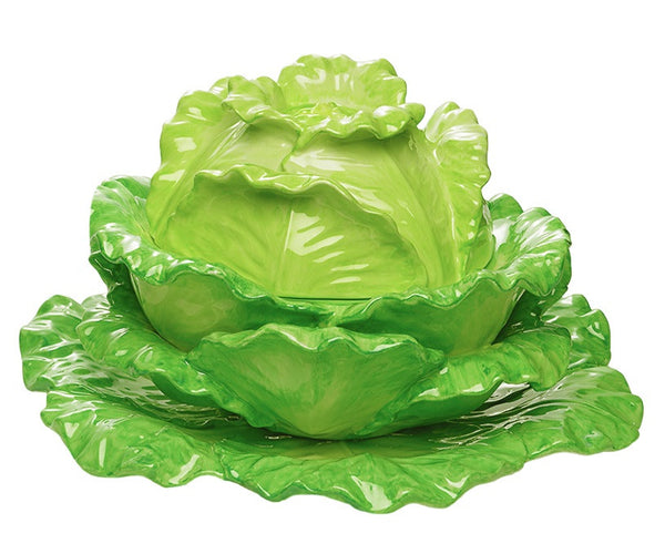 Mottahedeh Lettuce Tureen & Stand
