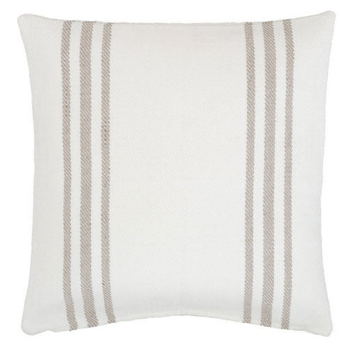 Lexington White/Platinum Indoor/Outdoor Pillow - GDH | The decorators department Store