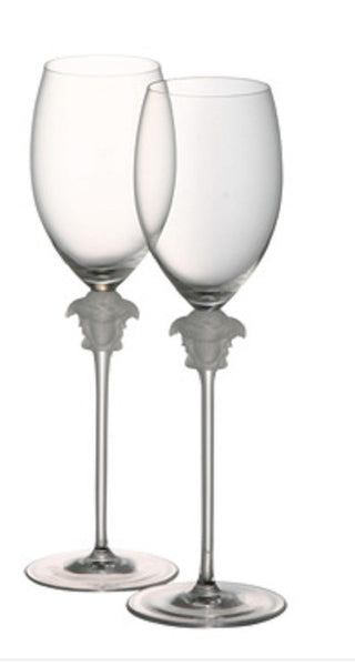 Versace Medusa Lumiere White Wine Glass - GDH | The decorators department Store