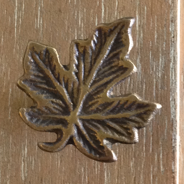 Bronze Leaf Door Pull S/12 - GDH | The decorators department Store