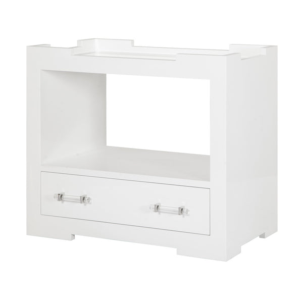 MONICA WHITE BED SIDE TABLE - GDH | The decorators department Store