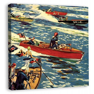 Canvas Boating Scene