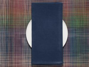 Chilewich Single-Sided Linen Napkins-Set of 8 | Blue