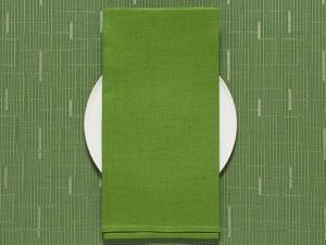 Chilewich Single-Sided Linen Napkins-Set of 8 | Grass