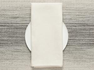 Chilewich Single-Sided Linen Napkins-Set of 8 | Off-White