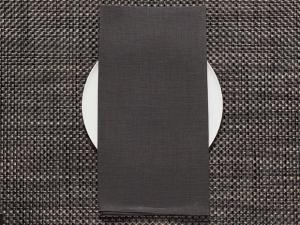 Chilewich Single-Sided Linen Napkins-Set of 8 | Smoke
