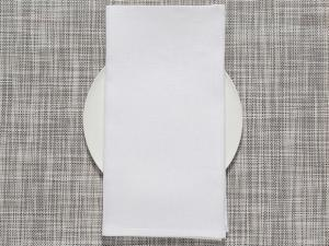 Chilewich Single-Sided Linen Napkins-Set of 8 | White