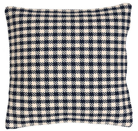 Houndstooth Navy/Ivory Indoor/Outdoor Pillow
