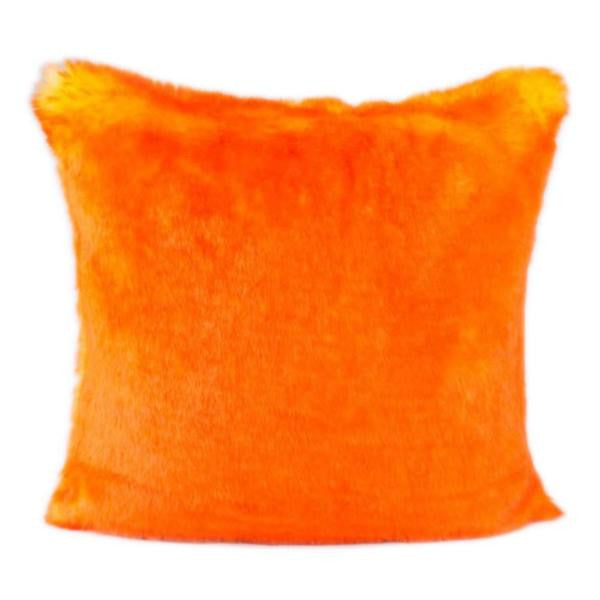 Faux Fur Pillow | Orange - GDH | The decorators department Store