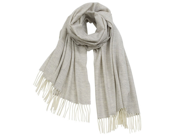 AVvOLTO Light Gray Cashmere Merino Italian Scarf - GDH | The decorators department Store