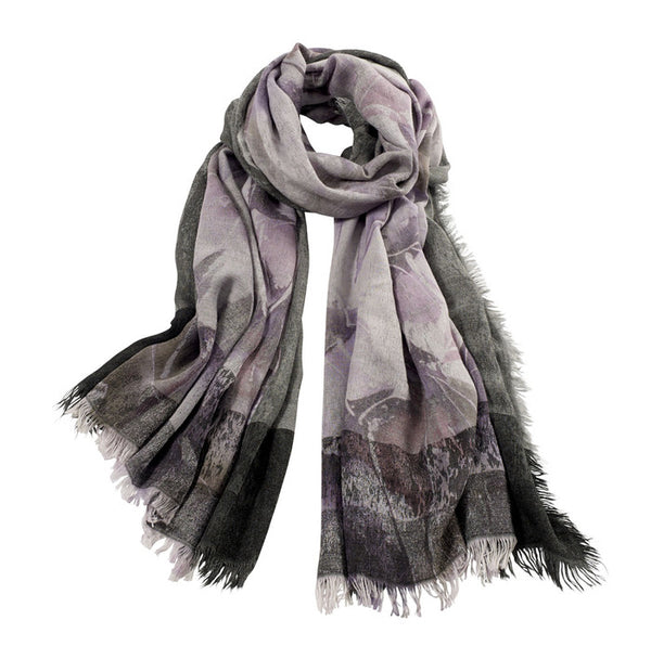 AVvOLTO Floral Digital Printed Scarf, Lilac - GDH | The decorators department Store