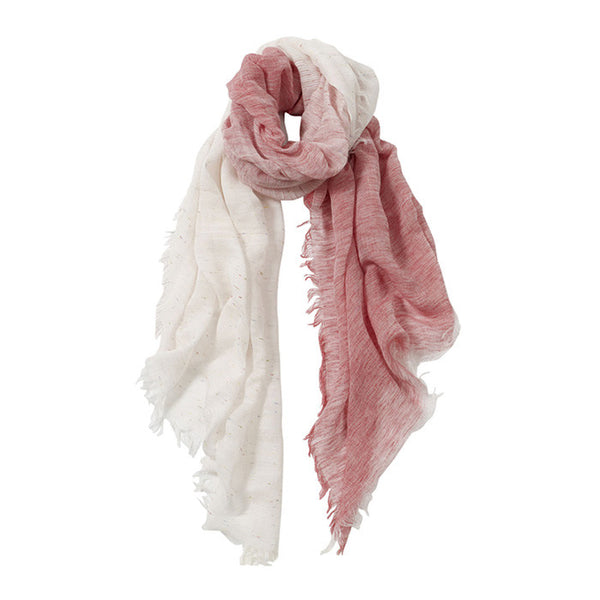 AVvOLTO Red to White Ombre Italian Scarf - GDH | The decorators department Store - 1