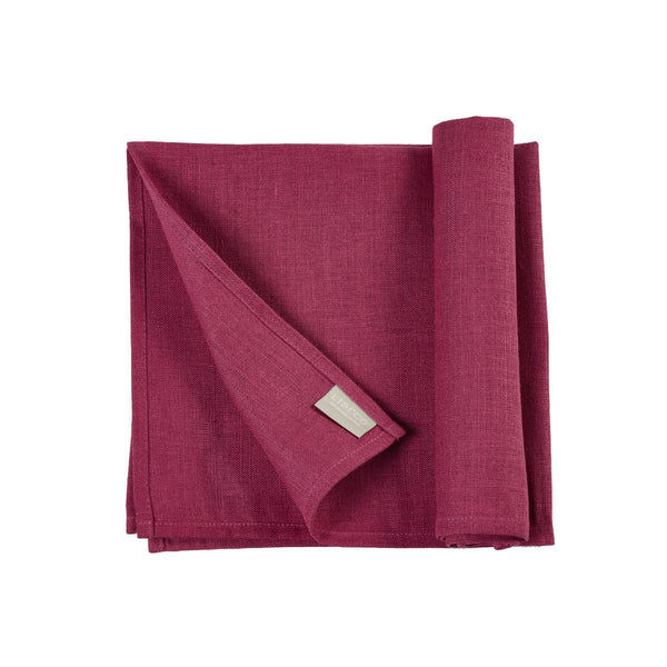 Polylin Napkins by Libeco S/6| Raspberry